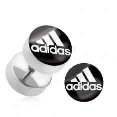"""Falošný oceľový plug do ucha """"adidas"""""""