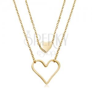 Oceľový náhrdelník zlatej farby 3c95934a9ea