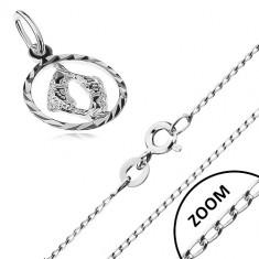 31ddab92a Strieborný náhrdelník 925 - lesklá retiazka, prívesok znamenia RYBY